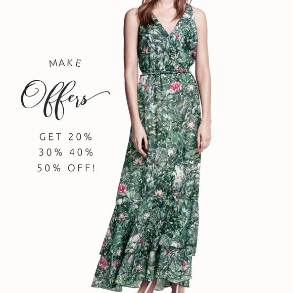 h m dresses hm conscious collection jungleprint maxi dress poshmark